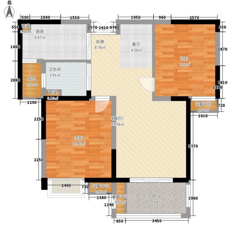 常发清扬御庭89.10㎡常发清扬御庭户型图C-2户型和风清朗户型图2室2厅1卫户型2室2厅1卫