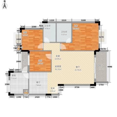 青麓雅园3室0厅2卫1厨113.00㎡户型图