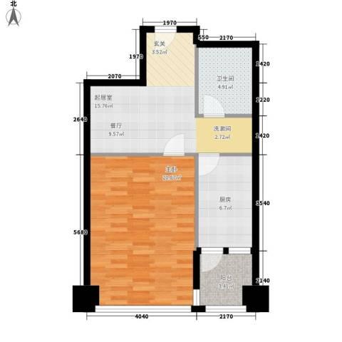 东壹号1室0厅1卫1厨59.00㎡户型图