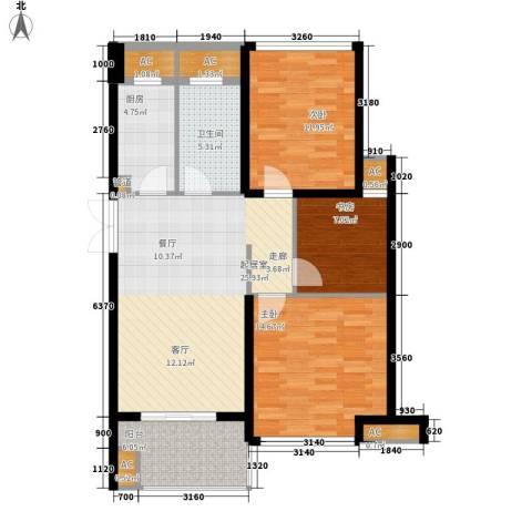 东壹号3室0厅1卫1厨92.00㎡户型图