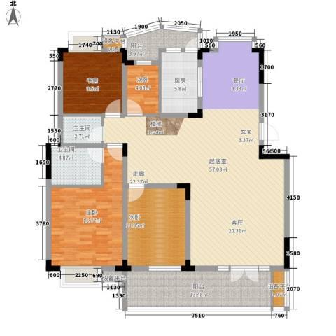 青麓雅园4室0厅2卫1厨187.00㎡户型图