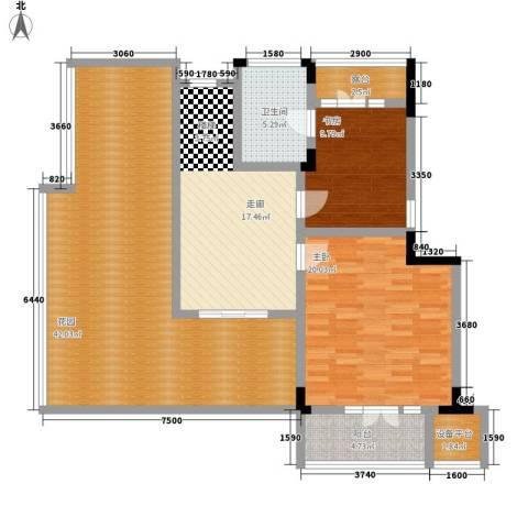青麓雅园2室0厅1卫0厨148.00㎡户型图