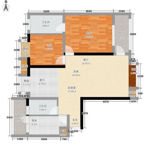 金元国际新城2室0厅2卫1厨109.00㎡户型图