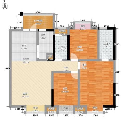 金元国际新城3室0厅2卫1厨129.00㎡户型图