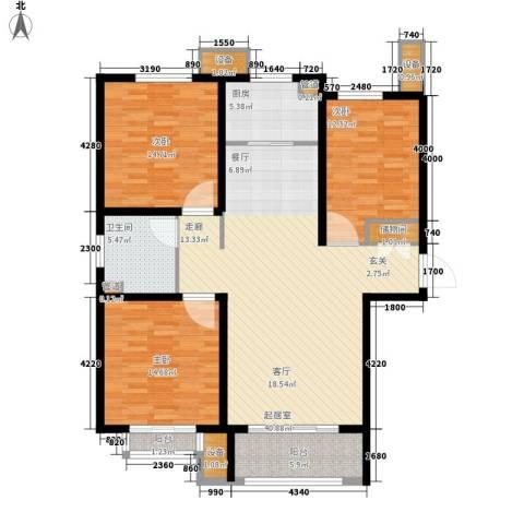 丽景御园3室0厅1卫1厨150.00㎡户型图