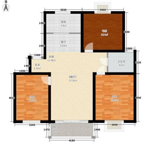 望馨花苑3室1厅1卫1厨108.00㎡户型图