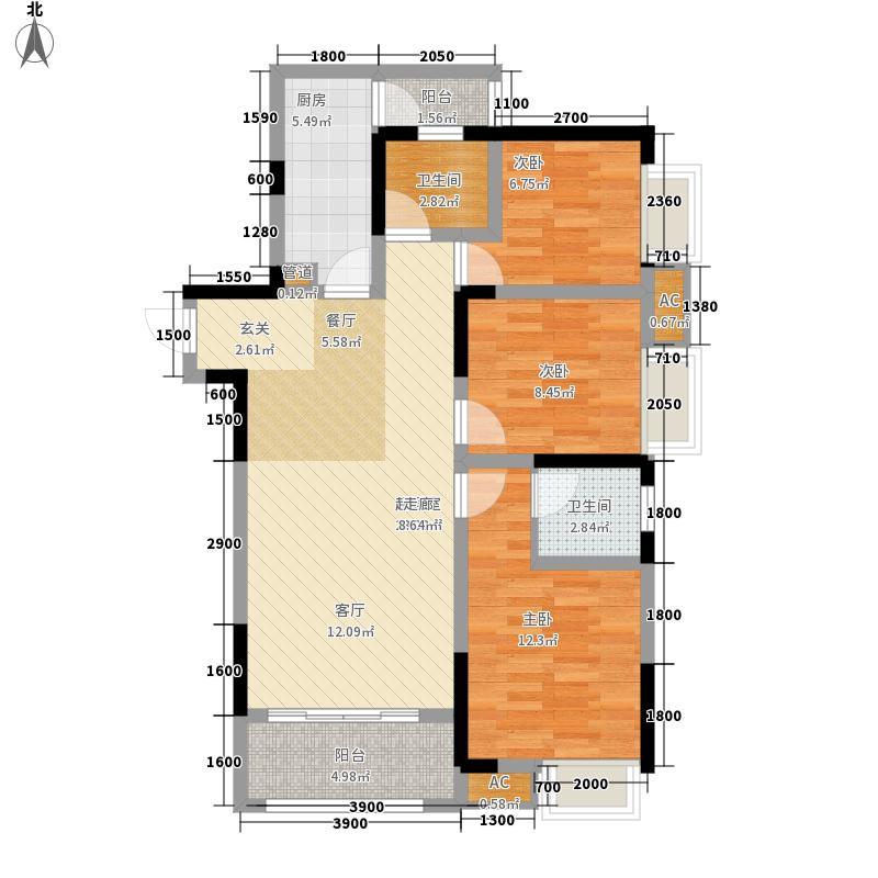 和顺园104.85㎡3号楼2号房户型3室2厅