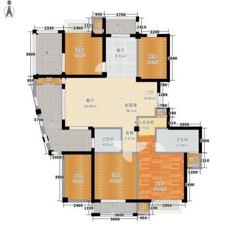 皇马公寓3室0厅2卫1厨148.00㎡户型图