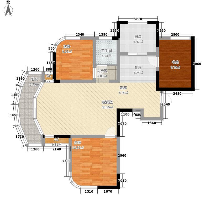 丰和新城115.00㎡5#、6#三房A户型3室2厅1卫