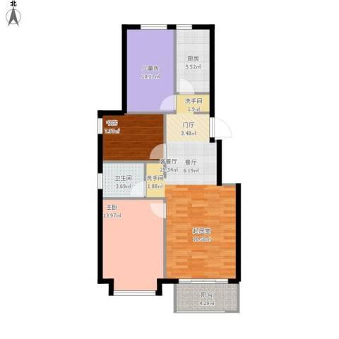 北京城建・海梓府3室1厅1卫1厨104.00㎡户型图