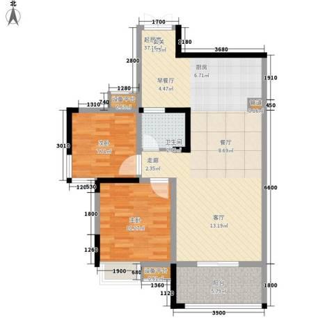 宇界维诗卡2室0厅1卫0厨80.00㎡户型图