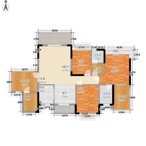 世纪名邸3室1厅2卫1厨163.00㎡户型图