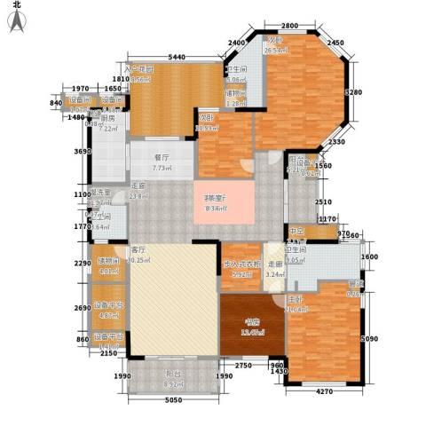 交通御府4室1厅3卫1厨253.00㎡户型图