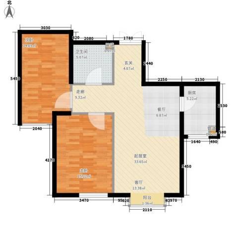御景龙湾2室0厅1卫1厨102.00㎡户型图
