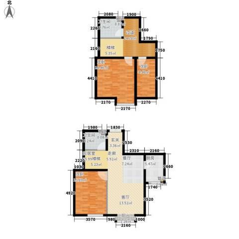 御景龙湾3室0厅2卫1厨154.00㎡户型图