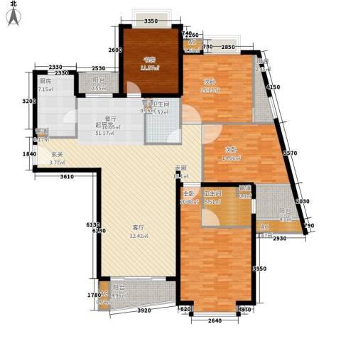 中远两湾城四期4室0厅2卫1厨165.00㎡户型图