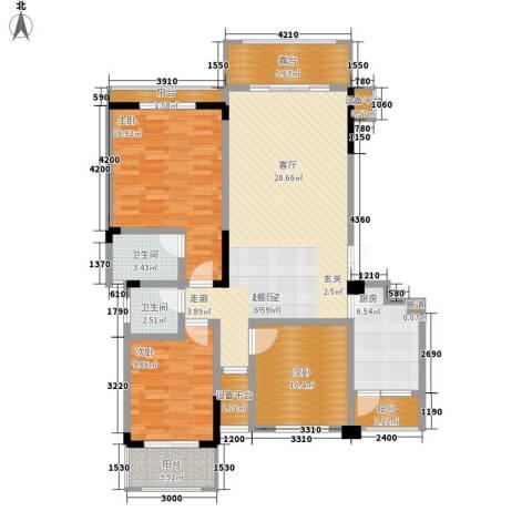 宇界维诗卡3室0厅2卫1厨118.00㎡户型图