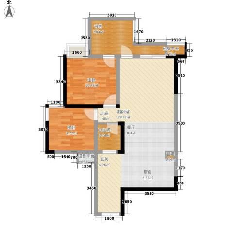 宇界维诗卡3室0厅1卫0厨90.00㎡户型图