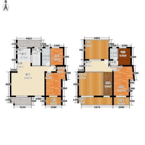 中都沁园3室2厅2卫1厨242.00㎡户型图