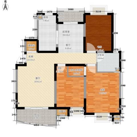 国际华城3室0厅1卫1厨121.00㎡户型图