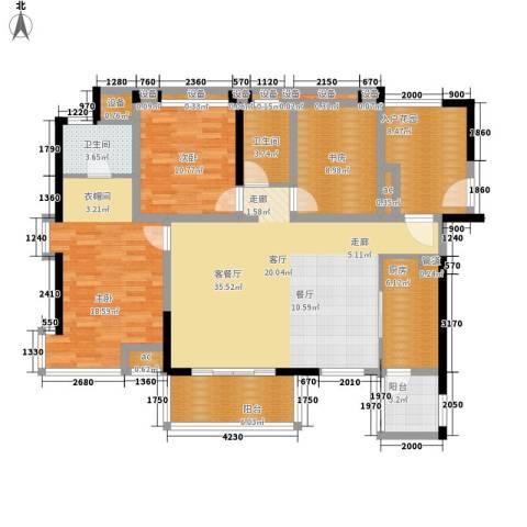 南苑新城名苑3室1厅2卫1厨159.00㎡户型图