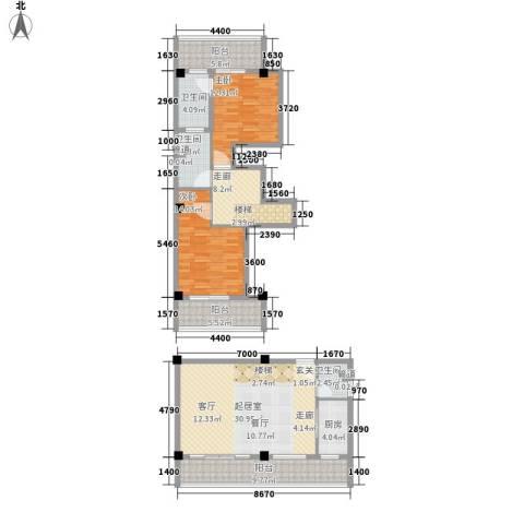 绿地太平湖2室0厅3卫1厨118.00㎡户型图