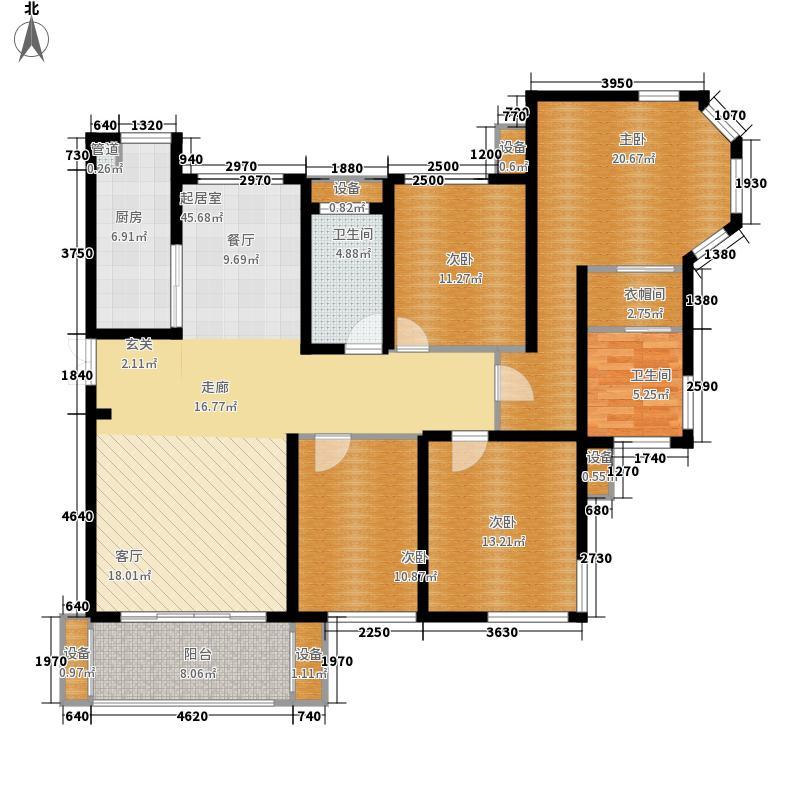 龙腾国际花园186.82㎡3#楼D2户型4室2厅