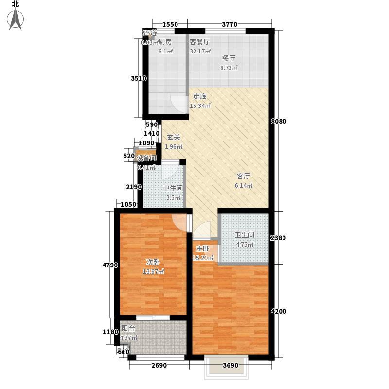 景圣湄河公寓111.20㎡C2户型