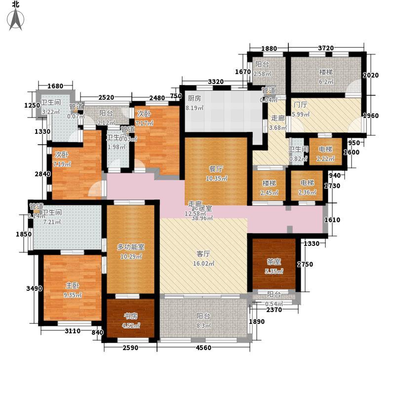 瑞虹新城170.00㎡瑞虹新城4室户型4室