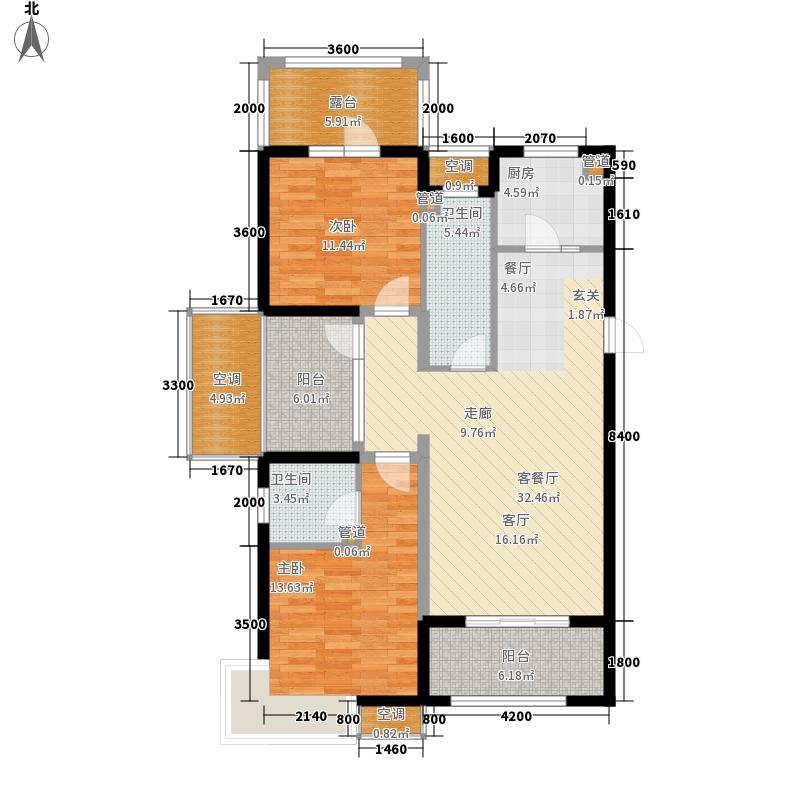 富立秦皇半岛118.37㎡C1奇数层户型2室2厅