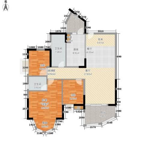 自在城市花园2室0厅2卫1厨122.00㎡户型图