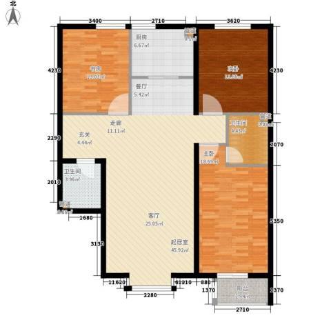 御景龙湾3室0厅2卫1厨152.00㎡户型图