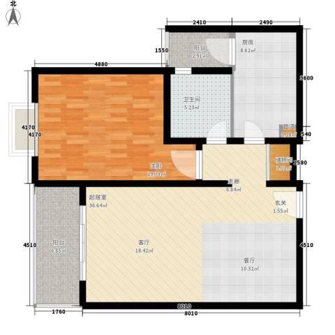 上海梦想1室0厅1卫1厨92.00㎡户型图
