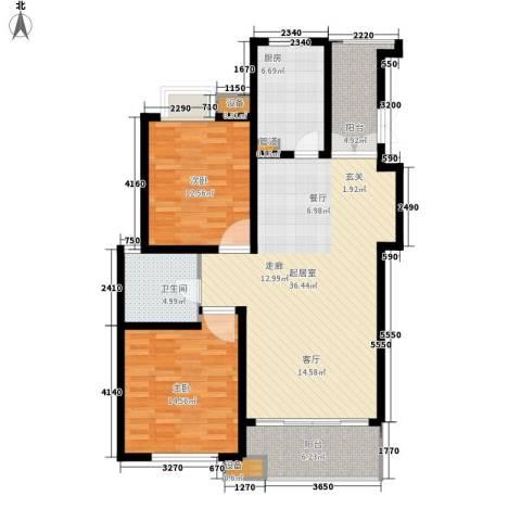 上海梦想2室0厅1卫1厨125.00㎡户型图