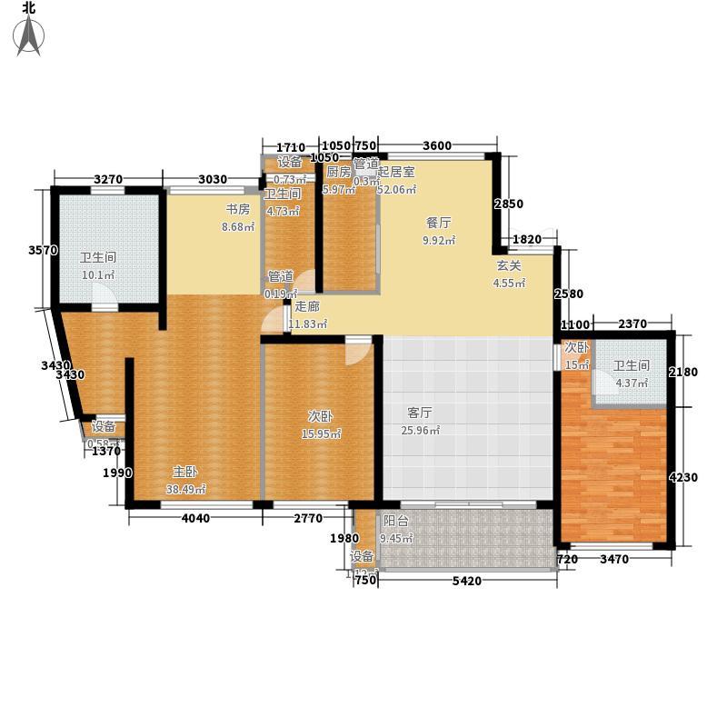 龙腾国际花园218.13㎡E1a户型3室2厅