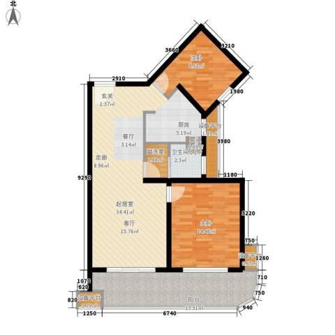 绿地太平湖2室0厅1卫0厨90.00㎡户型图