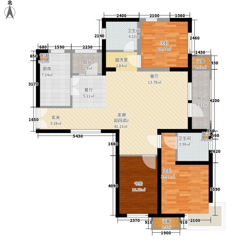 天津湾海景文苑145.00㎡高层标准层B3户型