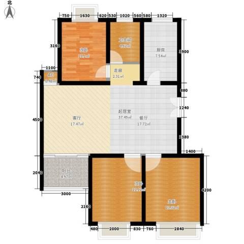 碧水云天3室0厅1卫1厨129.00㎡户型图