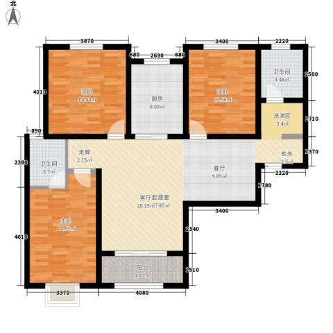 融广春天3室0厅2卫1厨144.00㎡户型图