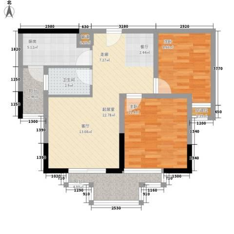 金元国际新城2室0厅1卫1厨93.00㎡户型图