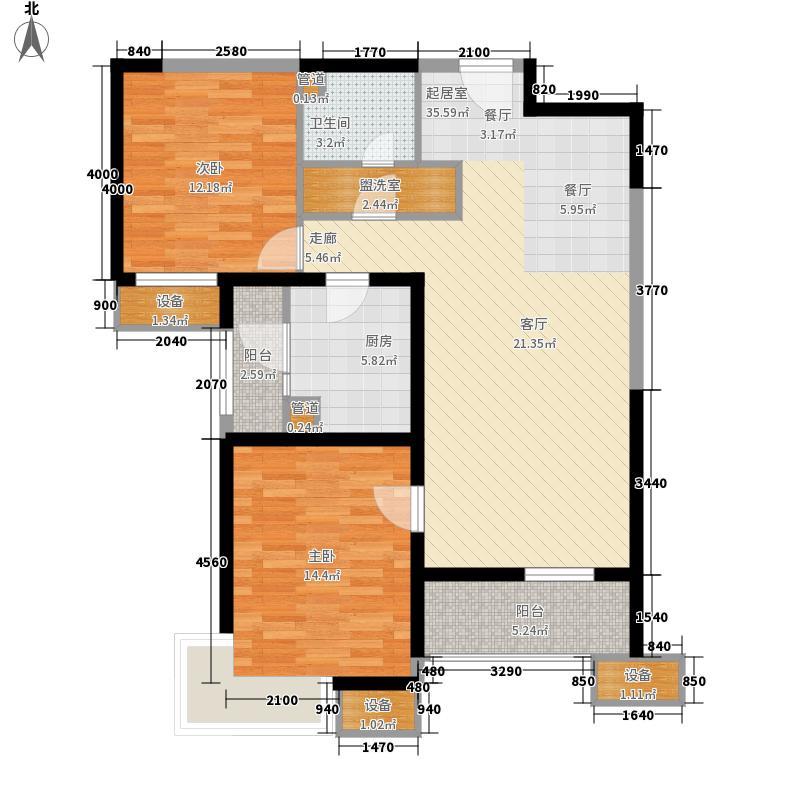 天津湾海景文苑115.00㎡2、3、4号楼标准层B2户型