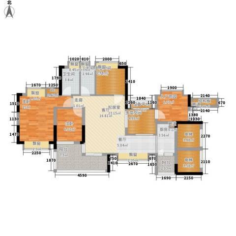 天马河壹号三期・御景湾2室0厅2卫1厨111.00㎡户型图