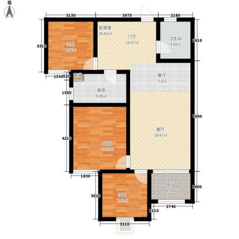 融广春天3室0厅1卫1厨117.00㎡户型图