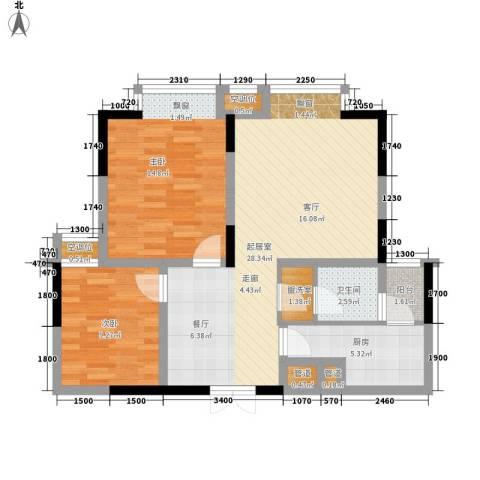 金元国际新城2室0厅1卫1厨84.00㎡户型图