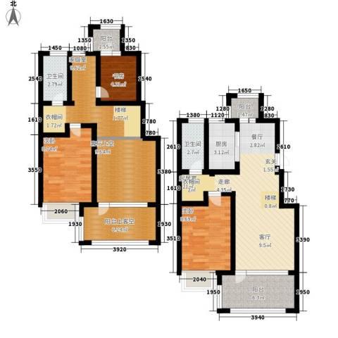 同济盛世家园3室0厅2卫1厨130.00㎡户型图