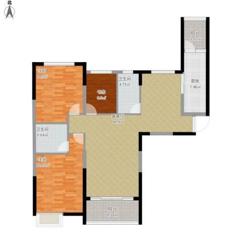 恒大城3室1厅2卫1厨149.00㎡户型图