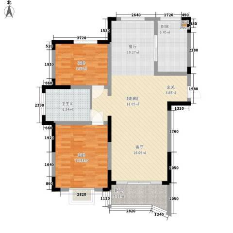 丰和新城2室0厅1卫1厨95.00㎡户型图
