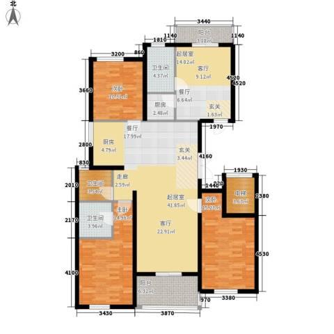 幸福.佳苑3室0厅3卫1厨175.00㎡户型图
