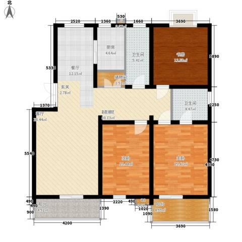 润源庭3室0厅2卫1厨126.00㎡户型图
