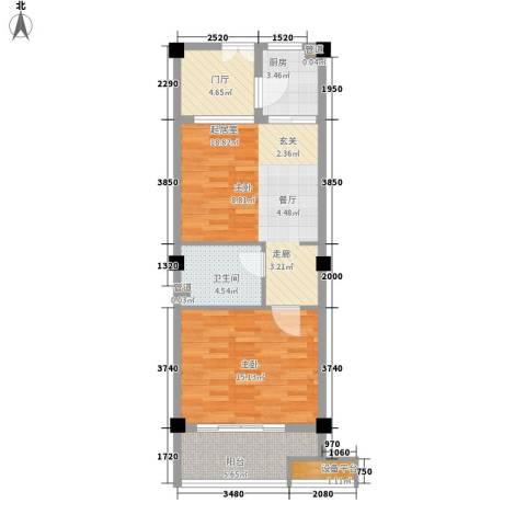 绿地太平湖1室0厅1卫1厨62.00㎡户型图